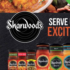 Sharwoods pull up banner